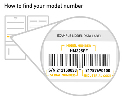 hotpoint fridge freezer how to find model number